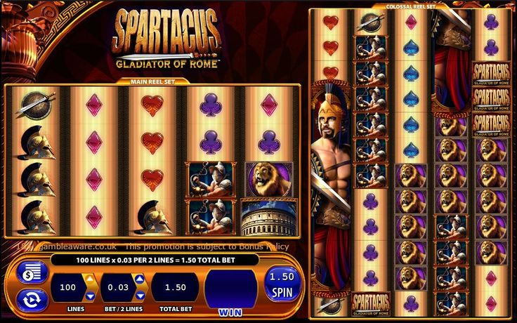 #Play Spartacus gladiator of Rome, a 100 payline game of Roman gladiator theme. Join Monster Casino of #UK and win huge #cash with £5 bonus now
