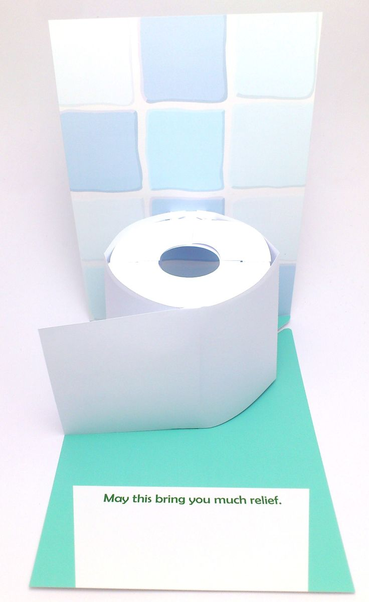 3D pop-up toilet roll greeting card.
