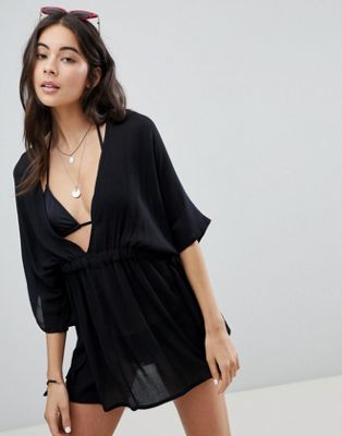 4a7ae12fcfd25 DESIGN channel waist beach cover up in 2019