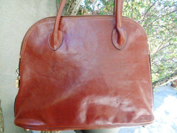 Grand Sac A Main Cuir Vintage Sac Cuir Lorenky French Leather Handbag Large Handbags Bags Handbag