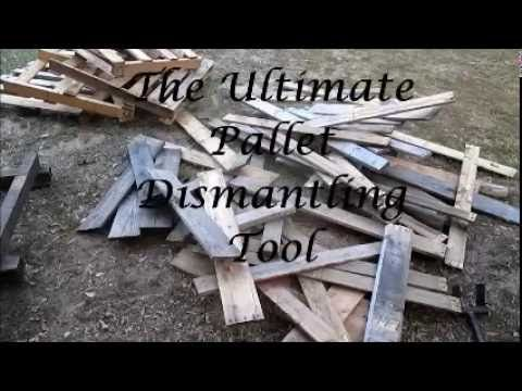 Pallets - How to take them apart easily with cheap tools without splitting the wood - YouTube