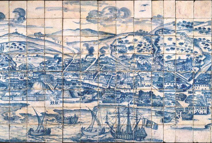 Grande Panorama de Lisboa | c. 1700 | Museu Nacional do Azulejo / National Azulejo Museum, inv. 1 [Foto / Photo: Carlos Monteiro, 1994 © DGPC] #Azulejo #AzulejoDoMês #AzulejoOfTheMonth #Trabalho #Labour #MNAz