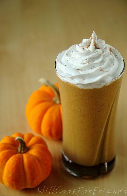 Pumpkin Pie Protein Smoothie by willcookforfriends: Vegan, gluten-free, soy-free, refined sugar-free. #Smoothie #Pumpkin_Pie #Healthy