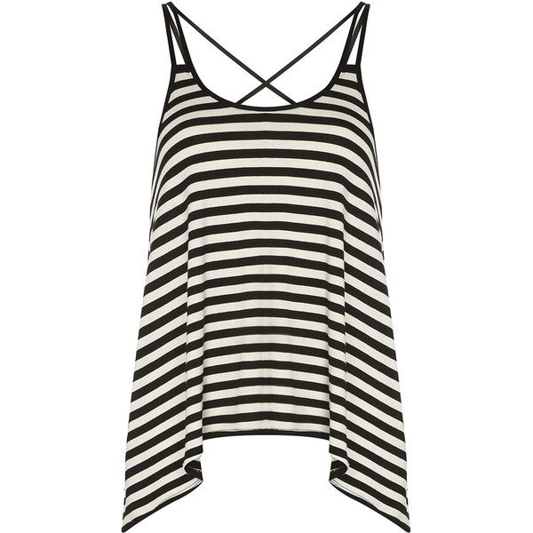 Dorothy Perkins Black/white Stripe Cami Top found on Polyvore