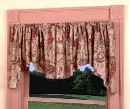 Valances Khaki Cotton, Waverly Valance Loukout Mountain 102 in. W by The Renovators Supply. $89.00. Measures 102 inches wide x 22 inches height. Fits window 34 in. to 51 in. wide. 100 percent cotton USA. Waverly Valance Loukout Mountain 102 in. W x 22 in. H. Waverly Valance Loukout Mountain 102 in. W