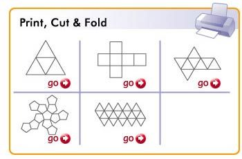 The Platonic Solids: Templates to print, cut and fold. by learner.org: Dad