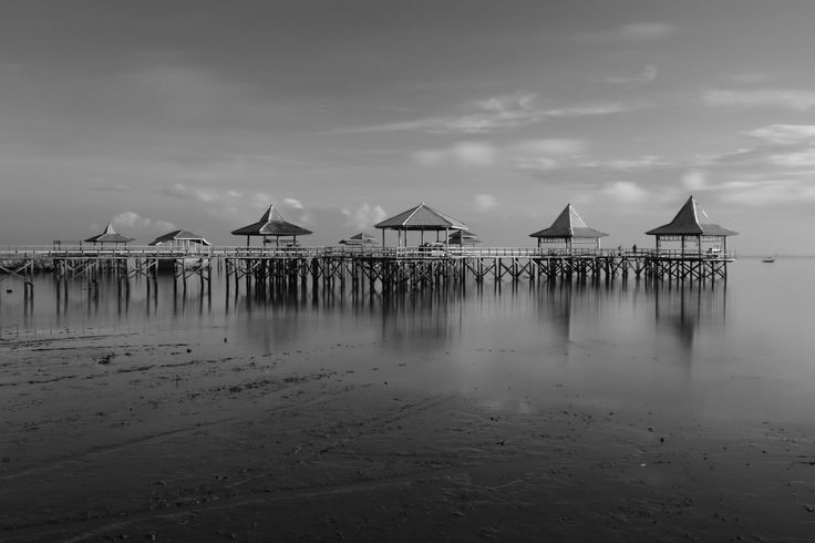 Pier On The Beach in Black White by Kun Riyanto on 500px