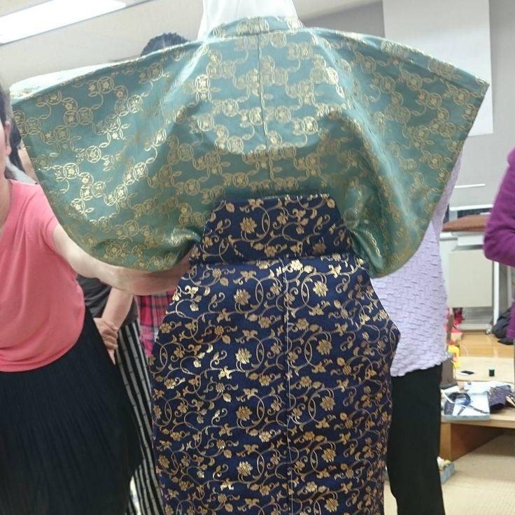 五歳用の袴製作の講習会に参加してきました❕  笹ひだや腰板などとても勉強になりました❗  #東亜和裁 #toawasai #男児用 #袴 #ハンドメイド #handmade