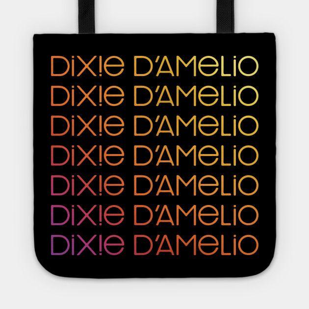 Dixie Damelio Logo Signature Name Rainbow Charli Damelio Hype House Tiktok Dixie Damelio Tote Teepublic Dixiedamelio Da Youtube Design Tote Rainbow