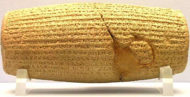 Cyrus Cylinder - Cylinder of Cyrus The Great Which allowed Cyrus' conquered…