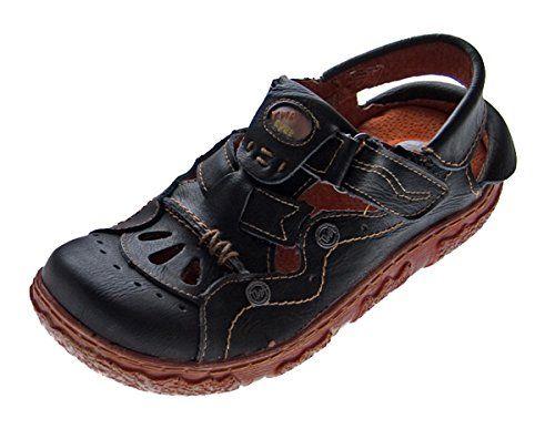 Leder Sandalen Damen Sandaletten Comfort Schuhe Schwarz Weiß Rot Gelb Grün Blau TMA Echt Leder - http://on-line-kaufen.de/tma/leder-sandalen-damen-sandaletten-comfort-schuhe