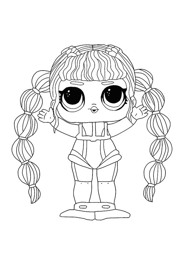 Printable Omg Fashion Doll Dazzle Coloring Page Horse Coloring Pages Coloring Pages Doll Drawing