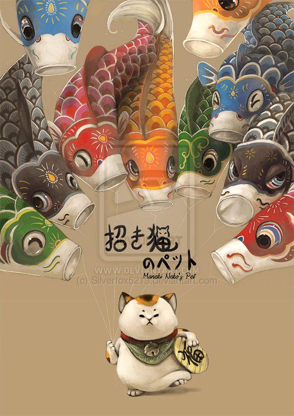 Maneki Neko's pet by Silverfox5213.deviantart.com on @deviantART