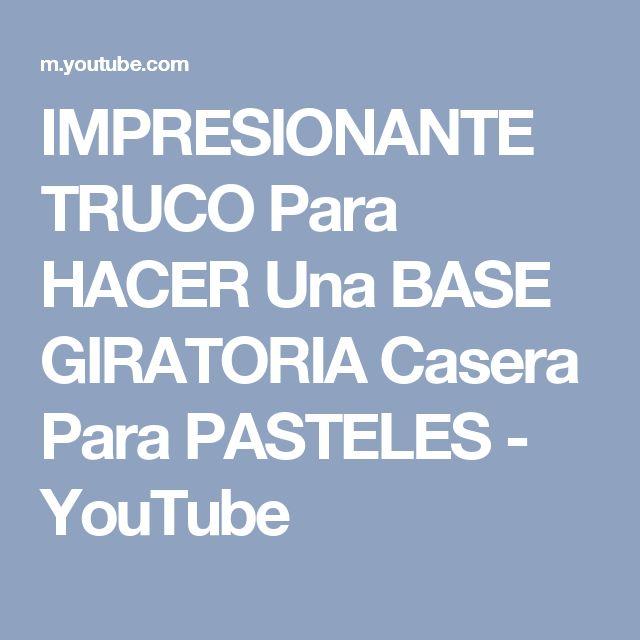 IMPRESIONANTE TRUCO Para HACER Una BASE GIRATORIA Casera Para PASTELES - YouTube