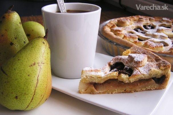 Hruškový koláč z krehkého cesta (fotorecept) - Recept