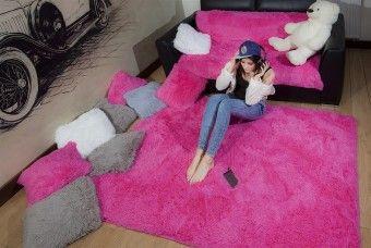 Dětský plyšový koberec ELMO Pink