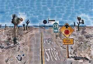 Hockney: Pear Blossom Highway. When you see this up close, it is even more mind boggling.