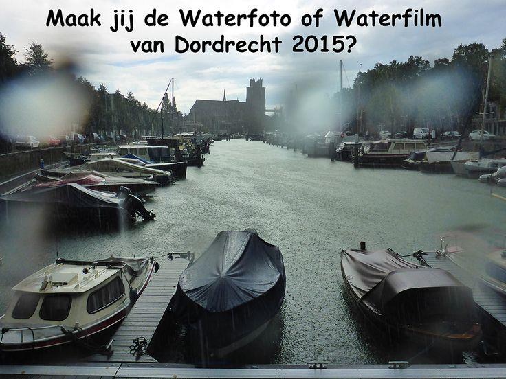 Maak jij de Waterfoto of Waterfilm van Dordt 2015? Heb je of maak je ook een bijzondere foto of filmpje van water in Dordrecht? Mail het dan naar: dordrechtenwater@ gmail.com. Of plaats het op de Facebook pagina www.facebook.com/onswaterindordrecht. Inzenden kan tot en met 1 oktober. Vanaf 2 oktober zetten we alle foto's en filmpjes tegelijk in 1 album op de Facebook pagina.
