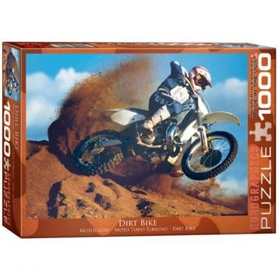 Dirt Bike: 1000-Piece #Puzzle! Man, machine, engine roar, flying dirt and dust. It doesn't get better than this. Dirt biking. Made in USA.