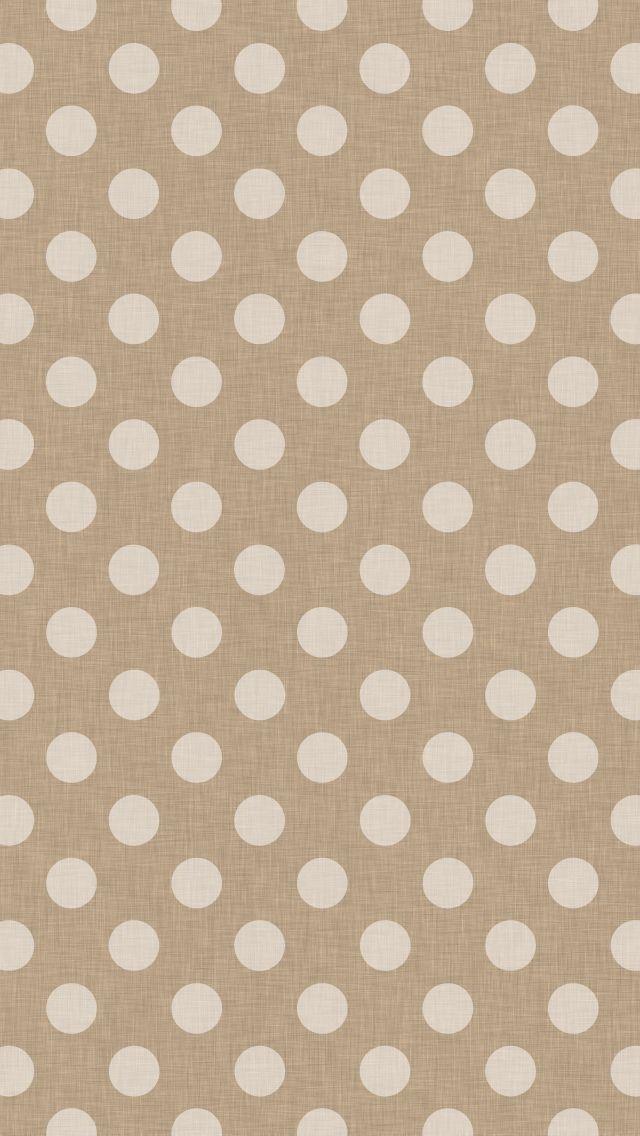 Brown Polka Dot IPhone Wallpaper