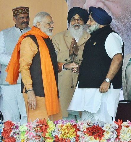 Shiromani Akali Dal (SAD) president Sukhbir Singh Badal  asked Prime Minister Narendra Modi Ji to direct the CBI to conduct a quick inquiry into the sacrilege incident at Bahbal Kalan in Faridkot district as well as expose and punish those behind this heinous crime. Addressing a mammoth gathering here, the SAD president said incidents of sacrilege started in Punjab after the entry of AAP into the State. #AkaliDal #ProudToBeAkali