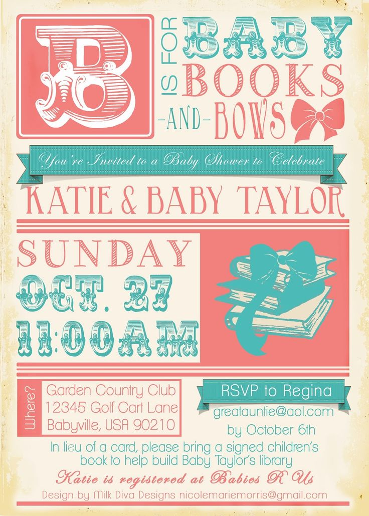Books & Bows Baby Shower