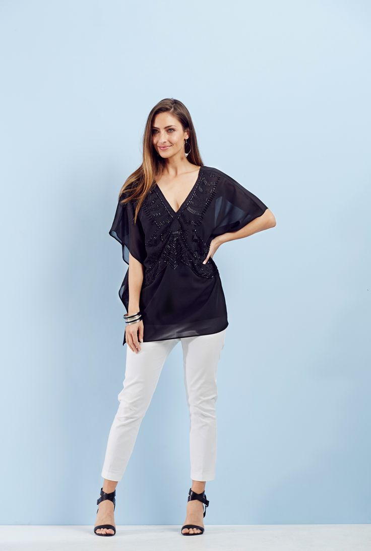 Party Season - Beaded details add glamour to the classic kaftan