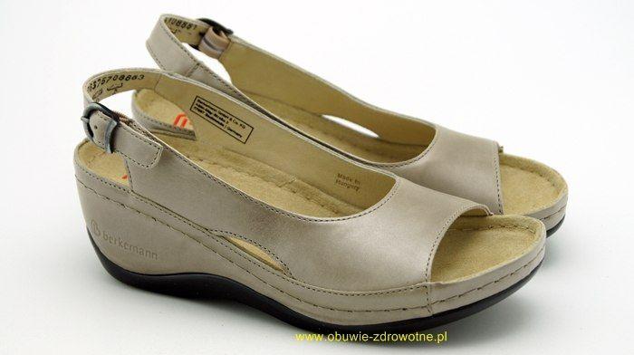 Phoebe 01763-757 Berkemann komfortowe sandały na koturnie, tęgość G, średnio szerokie stopy marki Berkemann