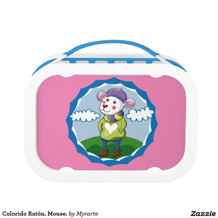 Colorido Ratón. Mouse. Producto disponible en tienda Zazzle. Product available in Zazzle store. Regalos, Gifts. Link to product: http://www.zazzle.com/colorido_raton_mouse_lunch_box-256591533358282611?CMPN=shareicon&lang=en&social=true&rf=238167879144476949 #lonchera #LunchBox #ratón #mouse #ratón #mouse