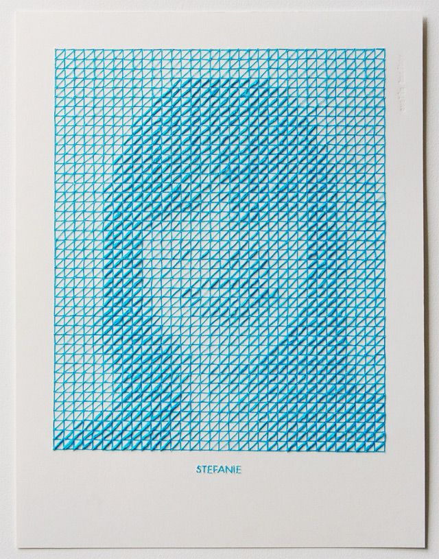 Stitched Portrait Project by Evelin KasikovColors, Illustration, Art, Eveline Kasikov, Stitches Portraits, Crosses, Embroidery, Portraits Projects, Typographic Design