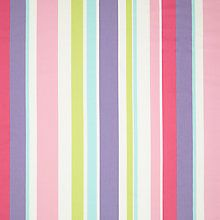 Buy little home at John Lewis Harrison Stripe Curtain, Pink / Purple Online at johnlewis.com