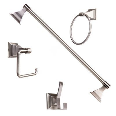 Ordinaire ARISTA BA1702 4SET SN 4 Piece Leonard Satin Nickel Decorative Bathroom  Hardware Set