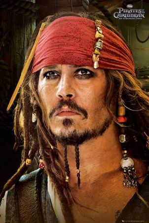 Johnny Depp is Captain Jack - Pirates of the Carribean  ... LOVE Johnny Depp in these movies ... he cracks me up!