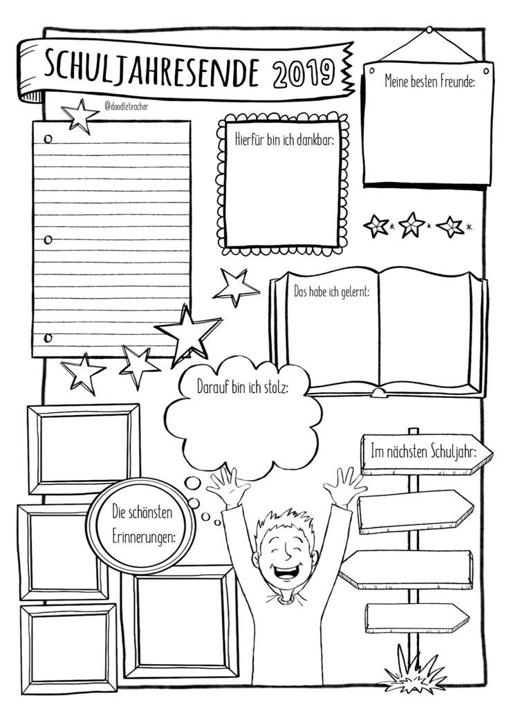 Schuljahresende – Gratis Sketchnote