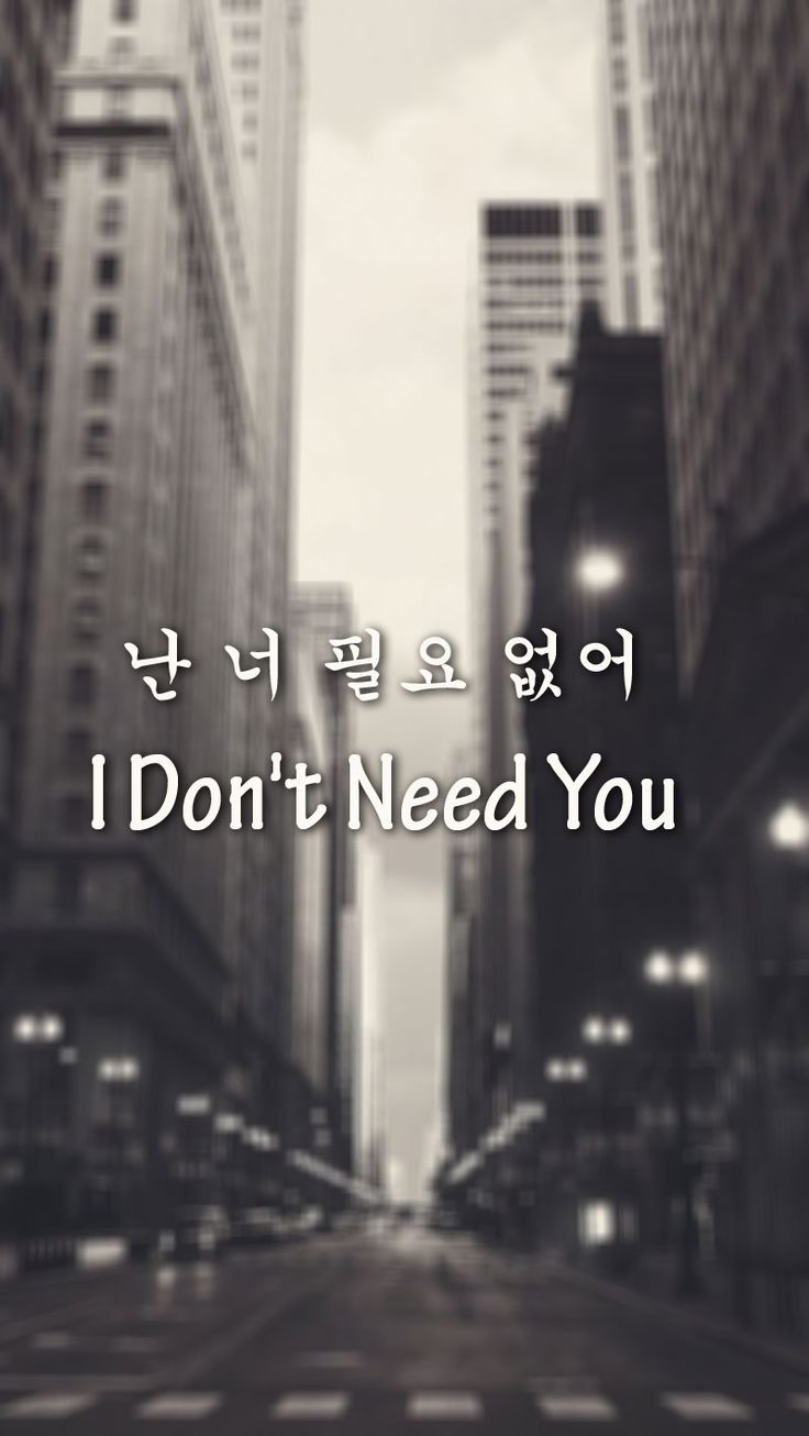 I Don't Need You (난 너 필요 없어)