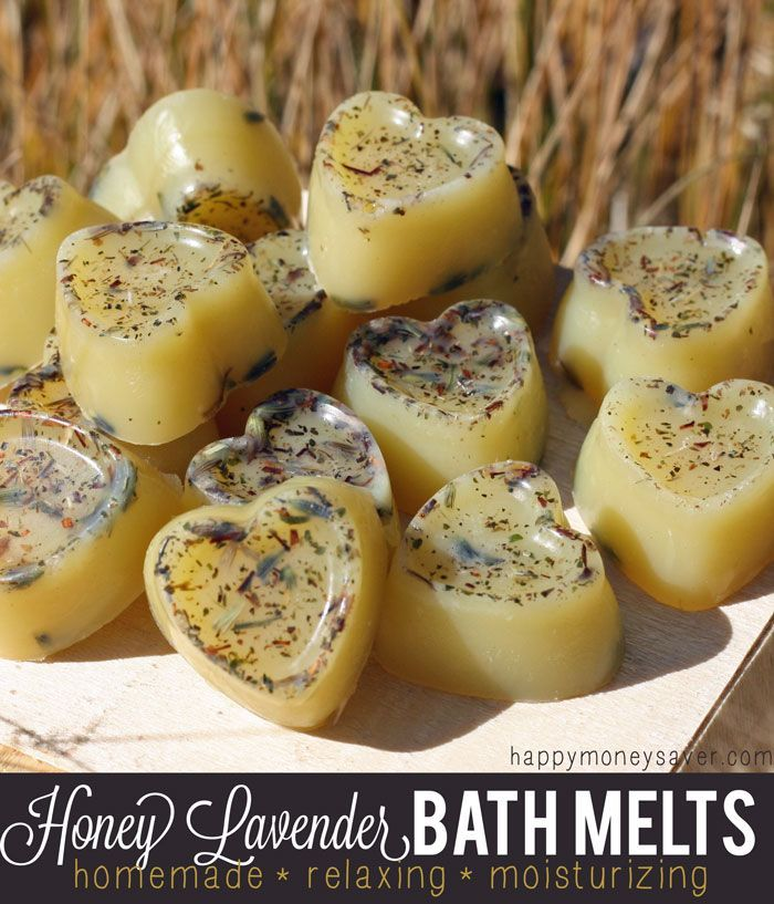 Honey Lavender Homemade Relaxing Bath Melts - Only costs $0.20 each to make!!
