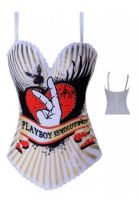 Magical Printed Burlesque Corset - Detailed item view - Just For Her