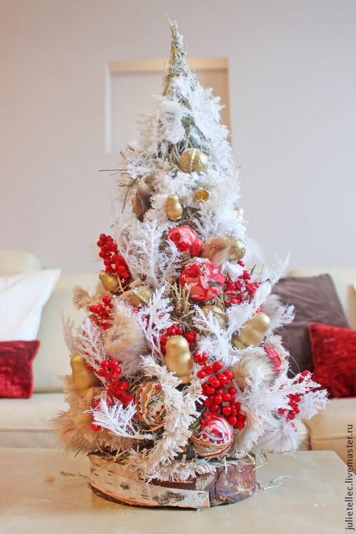 Купить Елочка Русская Зима - ярко-красный, русский стиль, новогодняя елка, новогоднее украшение