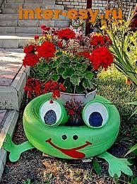 proyectos de jardin con llantas viejas - Buscar con Google