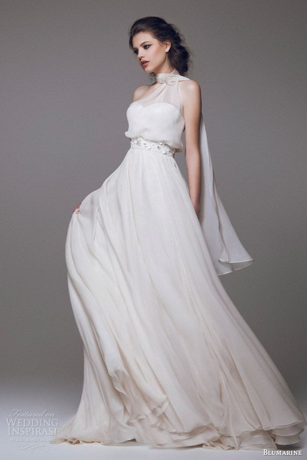 blumarine bridal 2015 high neck sleeveless wedding dress