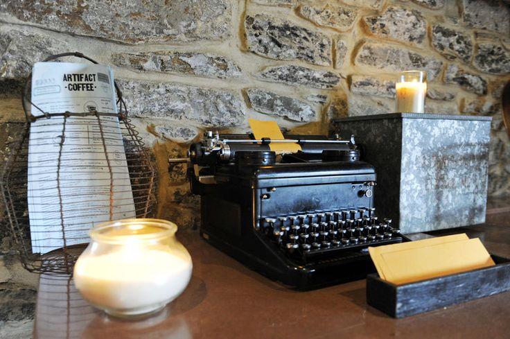 An antique typewriter... -Artifact Coffee - baltimoresun.com