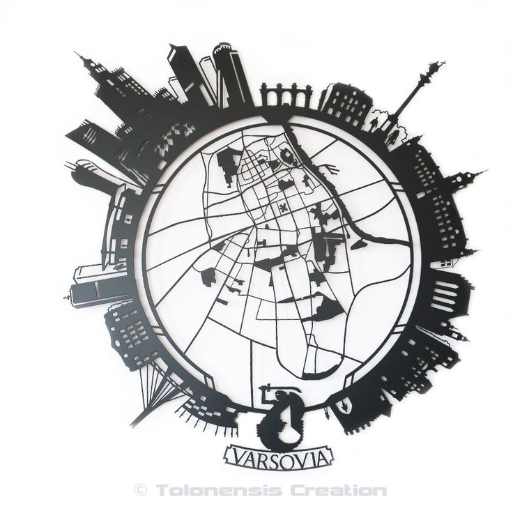 """Little Planet Varsovia.  This model presents the version of the city of Warsaw (Poland).   Metal laser cut  Powder coating paint  Height 1 m - 39,50"""" - Design by Jacques Lahitte  © Tolonensis Creation"""
