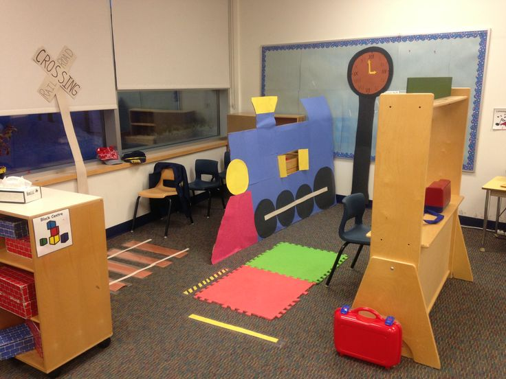 Kindergarten - Dramatic play - Train station