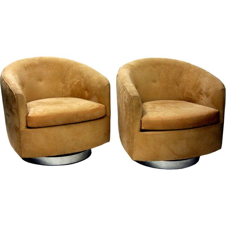 Perfect Small Swivel Club Chair Furniture   Ohlowradio.com