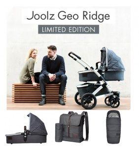 Joolz Geo Ridge, kočík inšpirovaný klasikou, doplnený štýlovou rebrovanou rukoväťou a rovnako štylizovaným predným madlom.