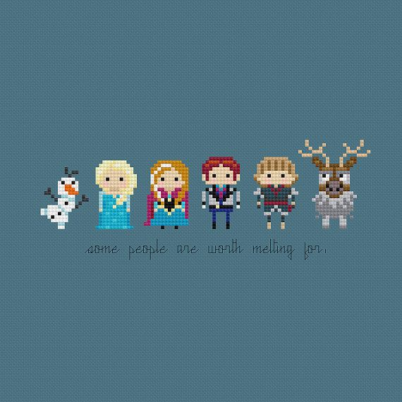 Disney Princess Minis: Frozen patterns by pixelsinstitches