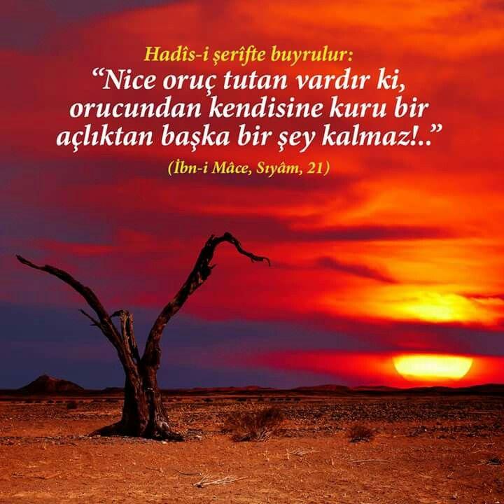 Oruç tut beni.  #oruç #iftar #sahur #açlık #hadis #uyarı #mümin #müslim #müminler #islamiyet #hadisişerif #ilmisuffa