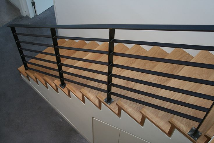 Black metal balustrade Staircase and rear balcony