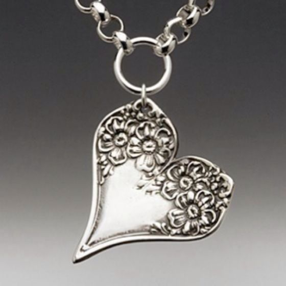 Silver heart pendant.