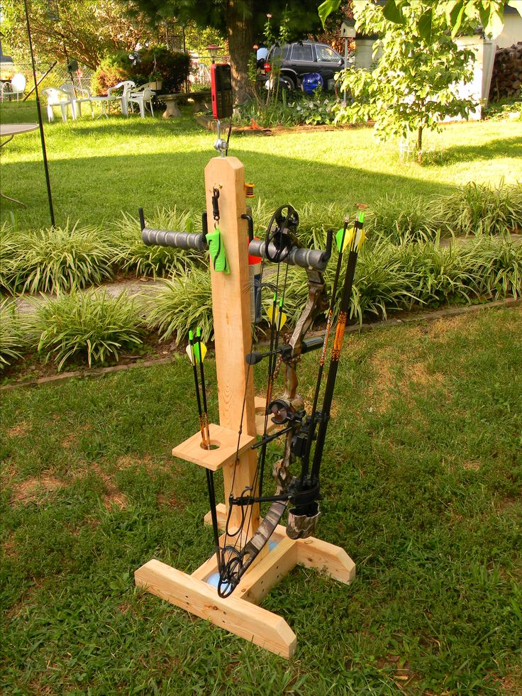 Diy Archery Bow Stand Using 2x4 S Ladder Hangers 18